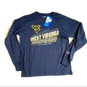 West Virginia Mountaineers Yth Med LS T-shirt NWT